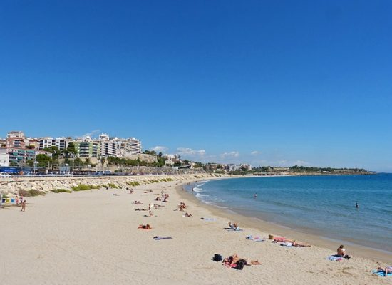 Tarragona Španielsko - pláž