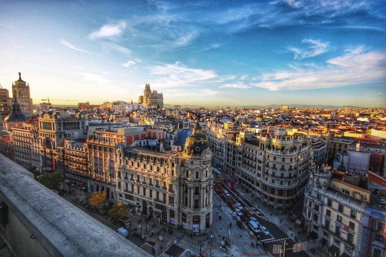 Madrid - Španielsko, výhľad na mesto