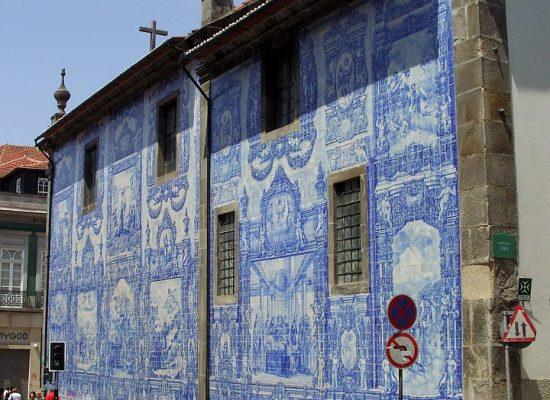 Porto - azulejos modré kachličky
